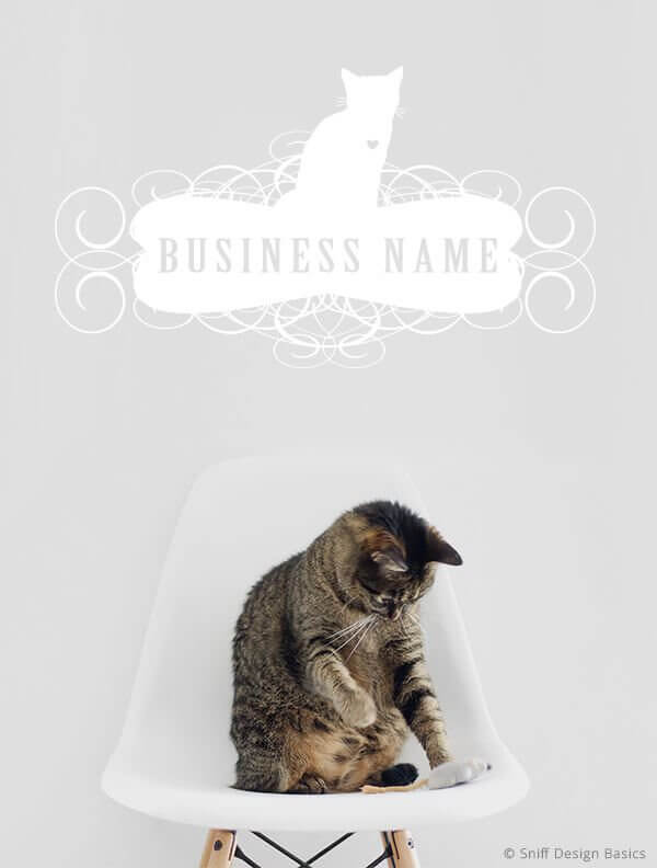 Ready-Made-Pet-Business-Logo-Design-Images-4-Showcase-WhiteOption-Elegant-2B