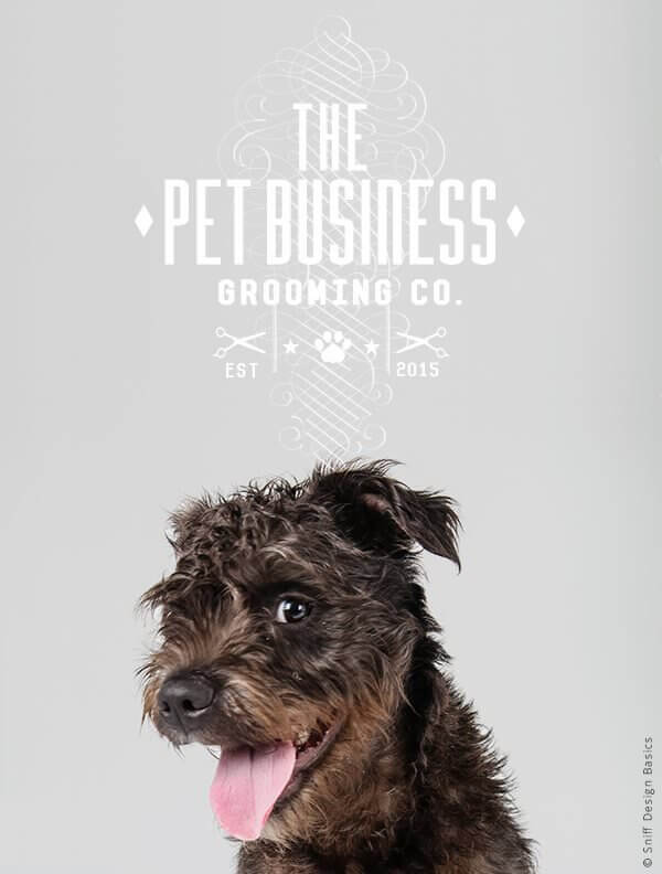 Ready-Made-Pet-Business-Logo-Design-Images-4-Showcase-WhiteOption-Elegant-6B