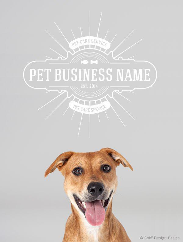 Ready-Made-Pet-Business-Logo-Images-4-Showcase-WhiteOption-Retro13