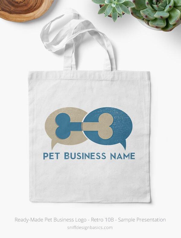 Ready-Made-Pet-Business-Logo-Showcae-Bags-Retro10B