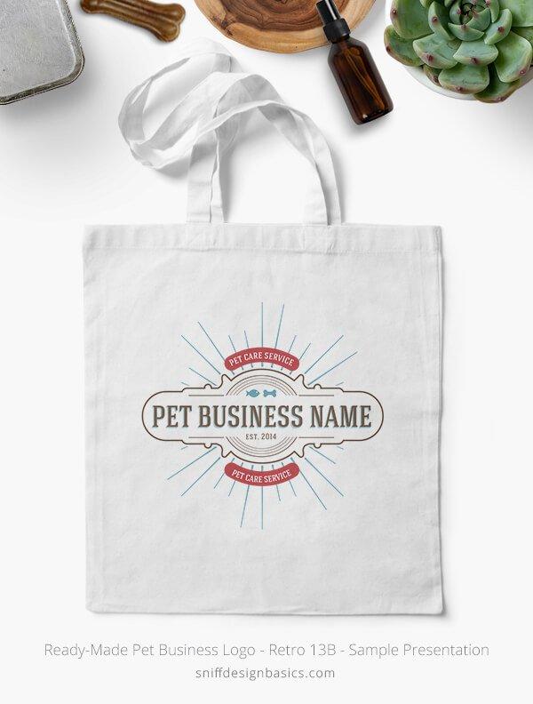Ready-Made-Pet-Business-Logo-Showcae-Bags-Retro13B