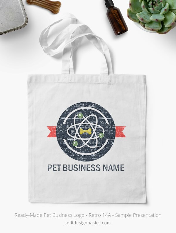 Ready-Made-Pet-Business-Logo-Showcae-Bags-Retro14A