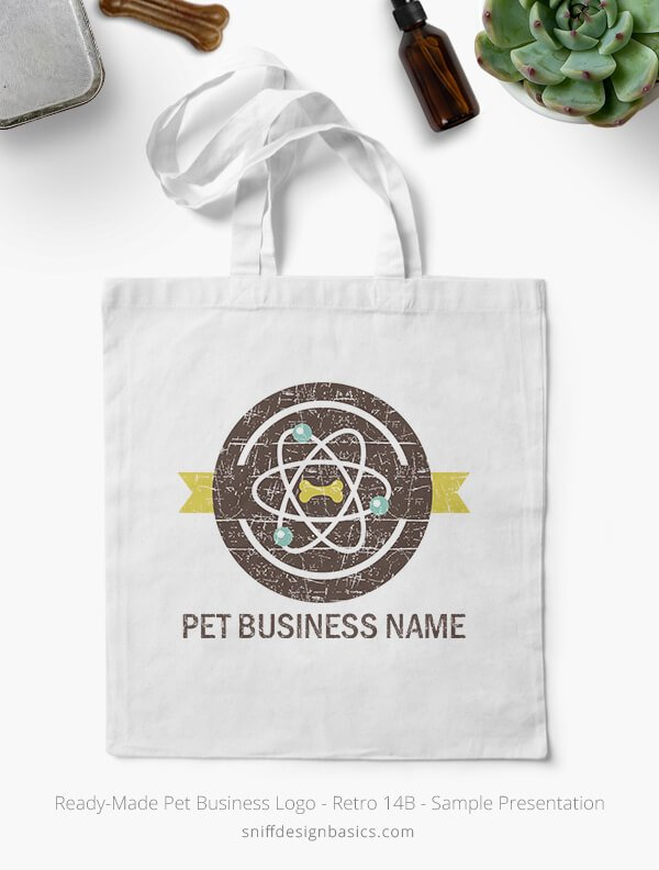 Ready-Made-Pet-Business-Logo-Showcae-Bags-Retro14B