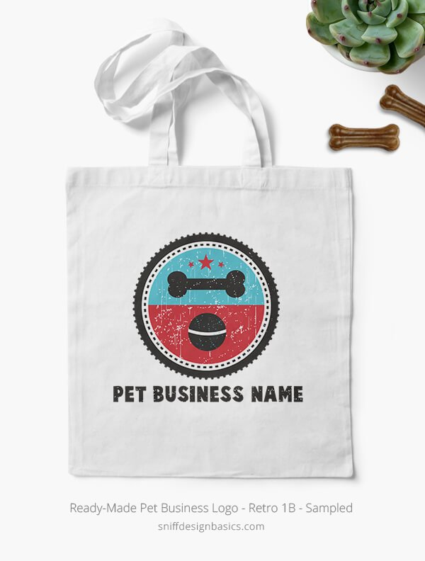 Ready-Made-Pet-Business-Logo-Showcae-Bags-Retro1B
