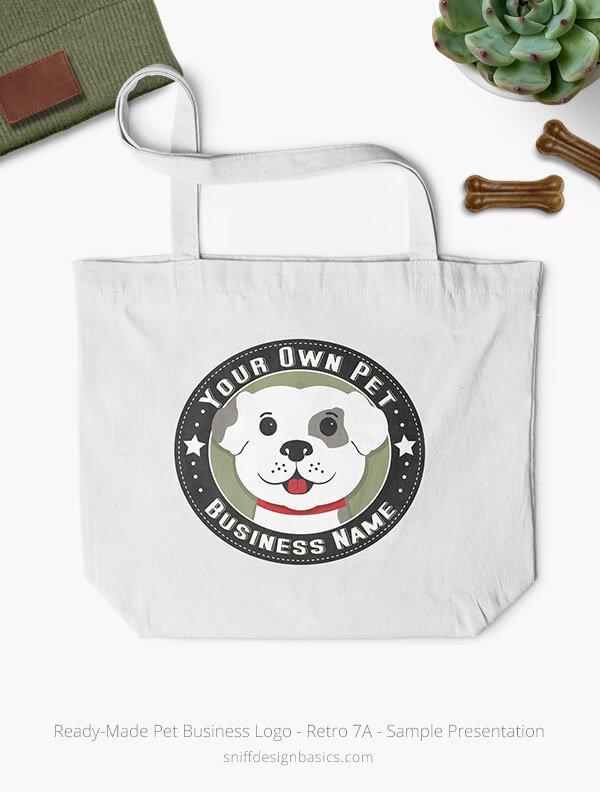 Ready-Made-Pet-Business-Logo-Showcae-Bags-Retro7A