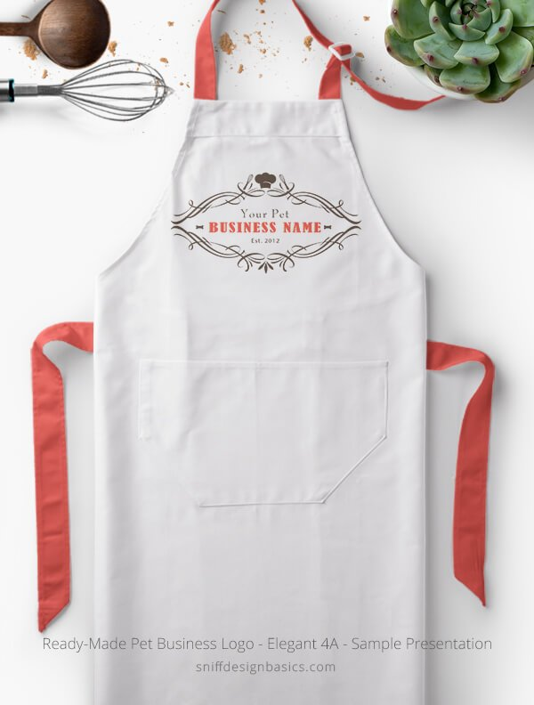 Ready-Made-Pet-Business-Logo-Showcae-Bakery-Apron-Elegant-4A