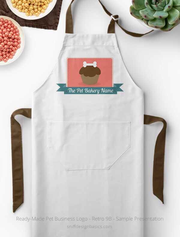 Ready-Made-Pet-Business-Logo-Showcae-Bakery-Apron-Retro9B