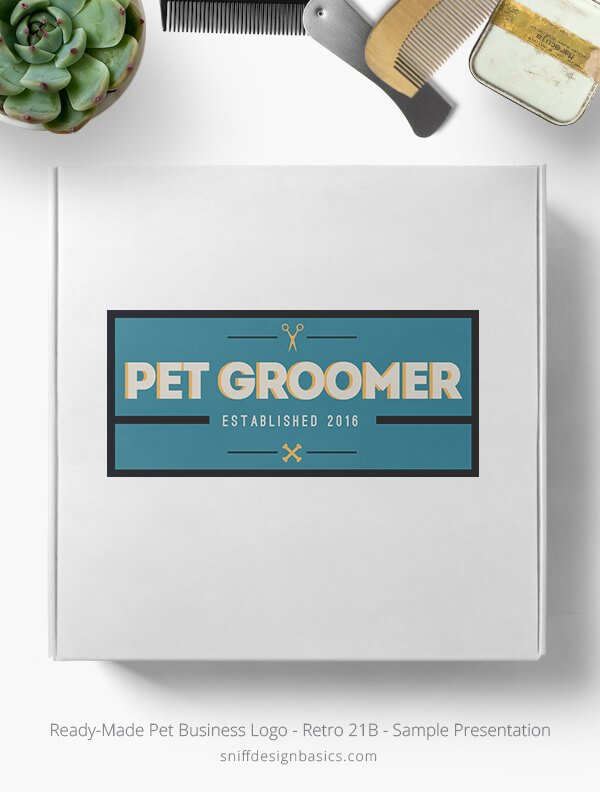Ready-Made-Pet-Business-Logo-Showcae-Box-Retro21B