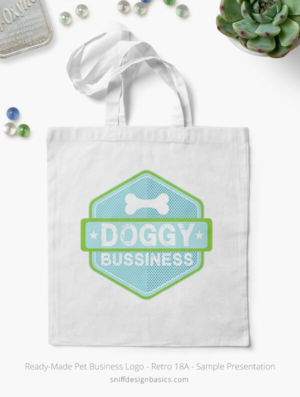 Ready-Made-Pet-Business-Logo-Showcae-Canvas-Bags-Retro18A