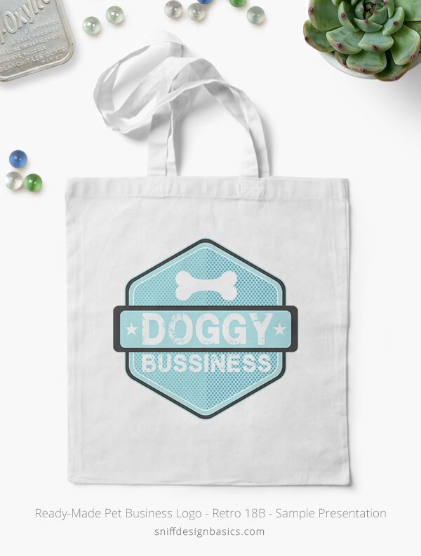 Ready-Made-Pet-Business-Logo-Showcae-Canvas-Bags-Retro18B