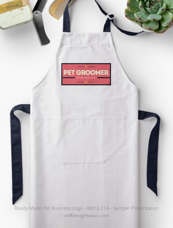 Ready-Made-Pet-Business-Logo-Showcae-Grooming-Apron-Retro21A