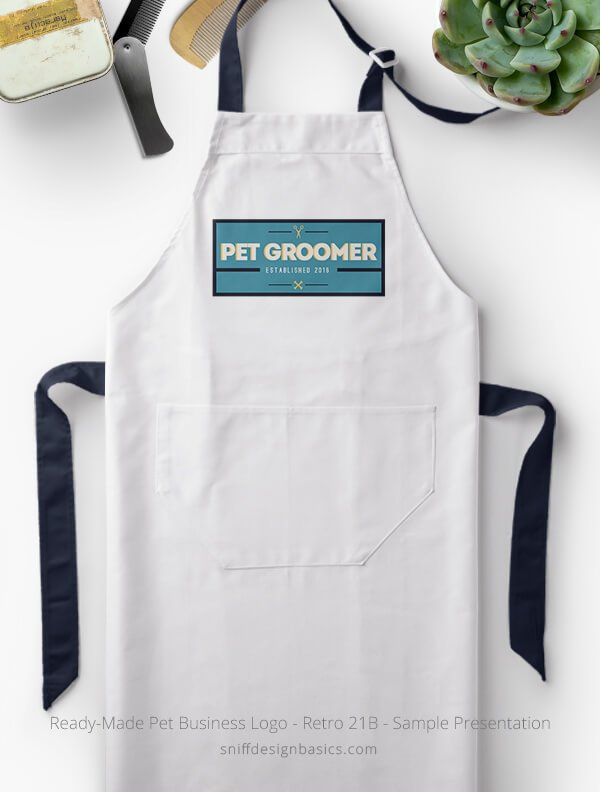 Ready-Made-Pet-Business-Logo-Showcae-Grooming-Apron-Retro21B