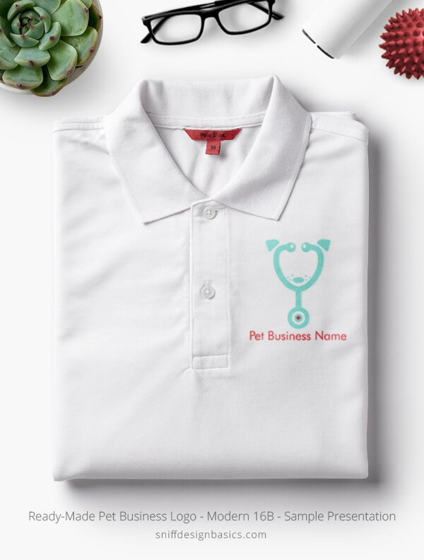Ready-Made-Pet-Business-Logo-Showcae-Polo-Shirt-Modern-16B