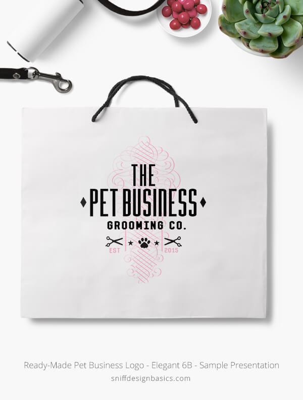 Ready-Made-Pet-Business-Logo-Showcae-Retail-Bag-Elegant-6B