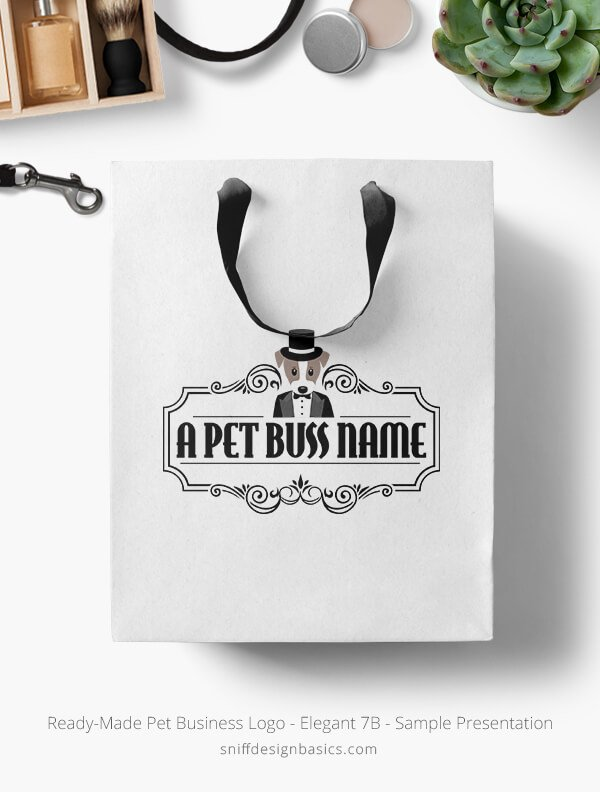 Ready-Made-Pet-Business-Logo-Showcae-Retail-Bag-Elegant-7B
