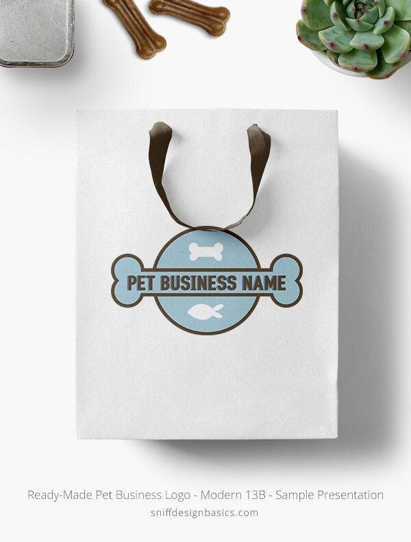Ready-Made-Pet-Business-Logo-Showcae-Retail-Bag-Modern-13B