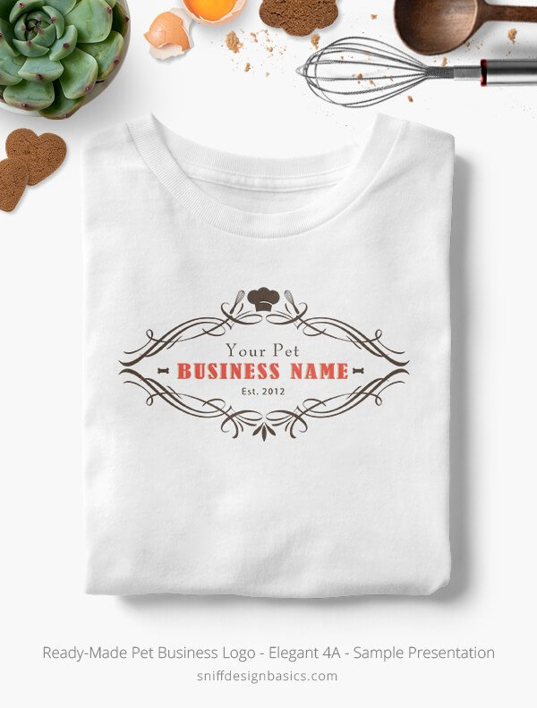 Ready-Made-Pet-Business-Logo-Showcae-T-Shirt-Elegant-4A