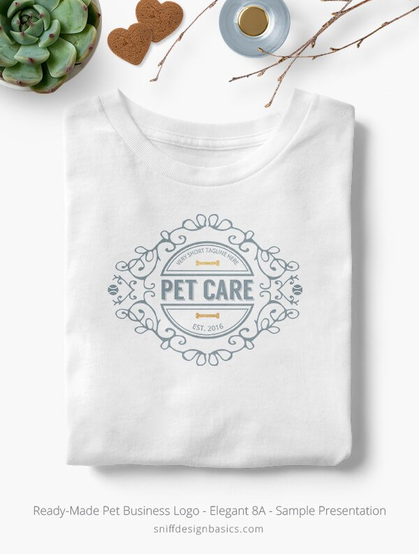 Ready-Made-Pet-Business-Logo-Showcae-T-Shirt-Elegant-8A