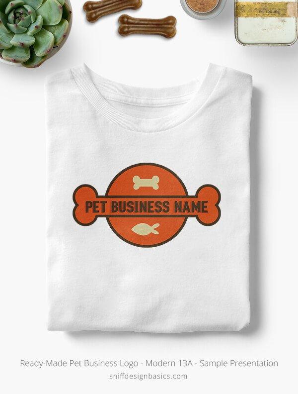 Ready-Made-Pet-Business-Logo-Showcae-T-Shirt-Modern-13A