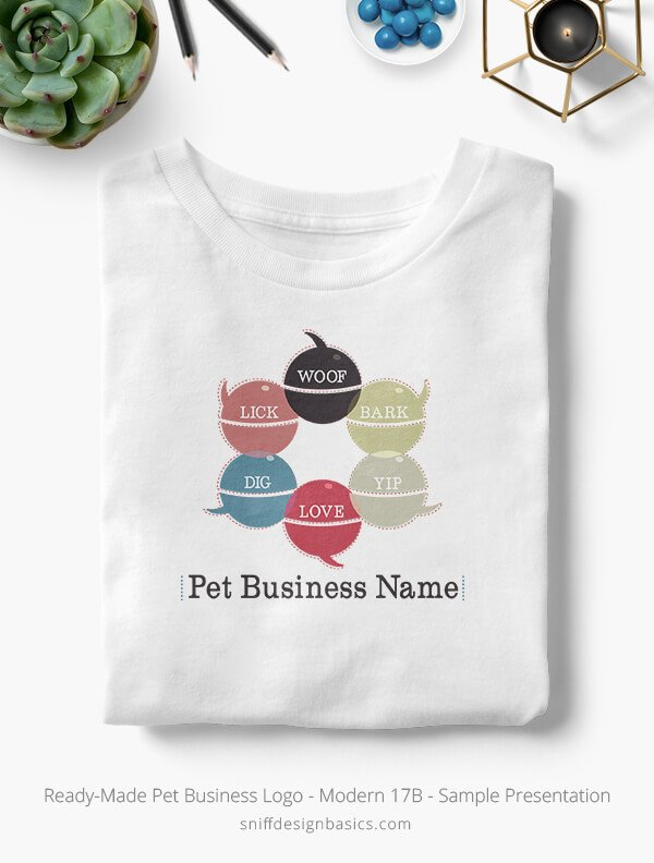 Ready-Made-Pet-Business-Logo-Showcae-T-Shirt-Modern-17B
