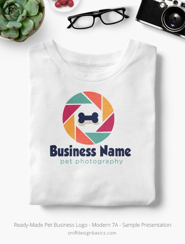 Ready-Made-Pet-Business-Logo-Showcae-T-Shirt-Modern-7A