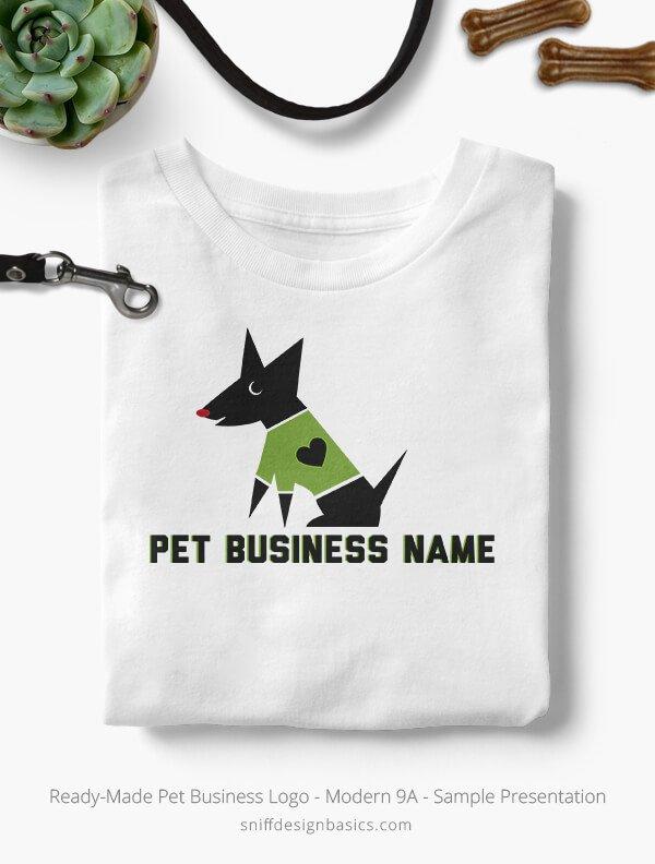 Ready-Made-Pet-Business-Logo-Showcae-T-Shirt-Modern-9A