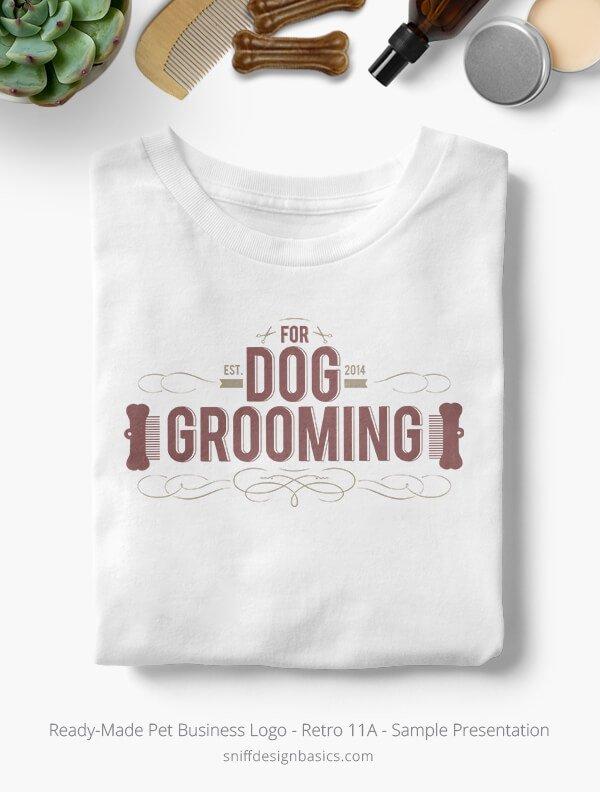 Ready-Made-Pet-Business-Logo-Showcae-T-Shirt-Retro11A