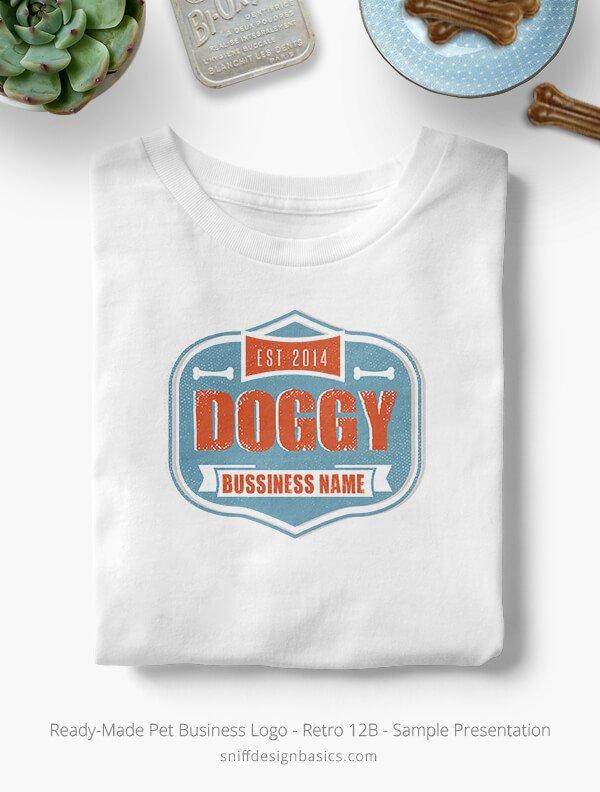Ready-Made-Pet-Business-Logo-Showcae-T-Shirt-Retro12B