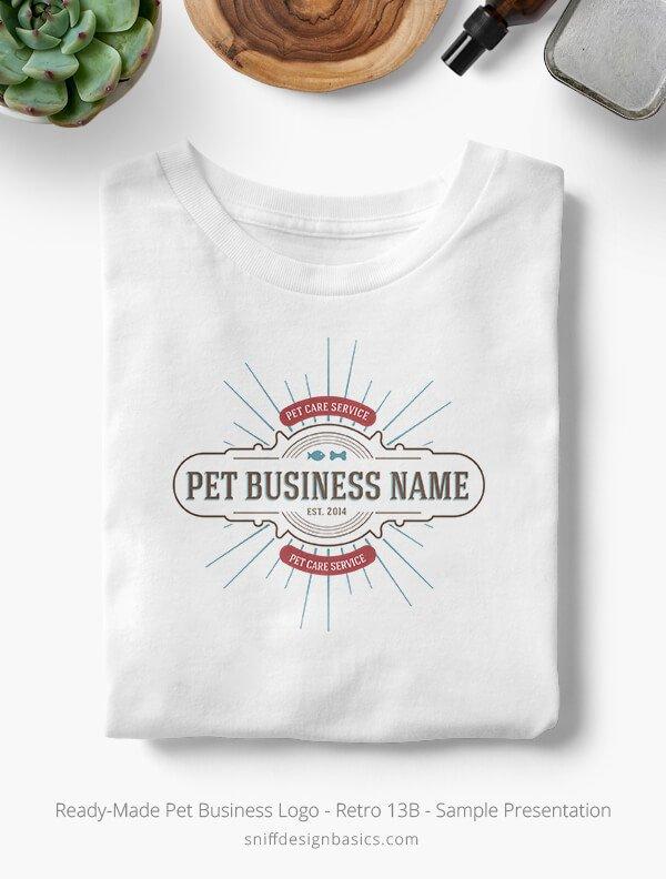 Ready-Made-Pet-Business-Logo-Showcae-T-Shirt-Retro13B
