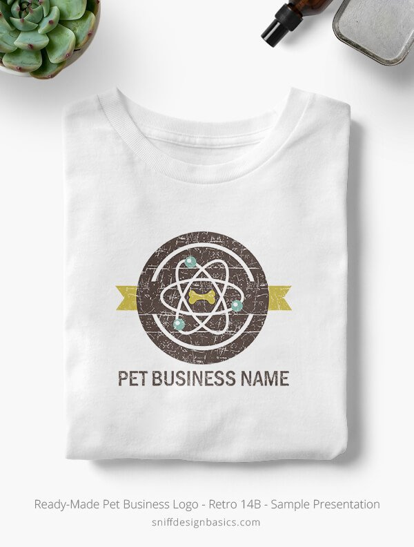 Ready-Made-Pet-Business-Logo-Showcae-T-Shirt-Retro14B