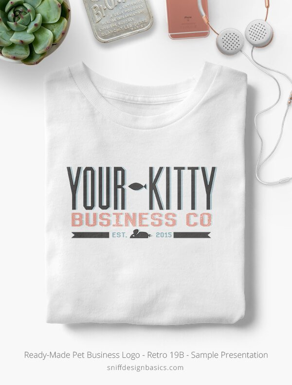 Ready-Made-Pet-Business-Logo-Showcae-T-Shirt-Retro19B
