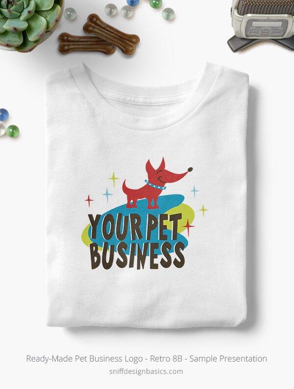Ready-Made-Pet-Business-Logo-Showcae-T-Shirt-Retro8B
