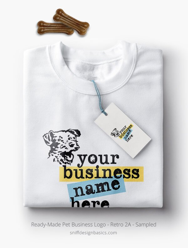 Ready-Made-Pet-Business-Logo-Showcae-TShirt-Retro2A