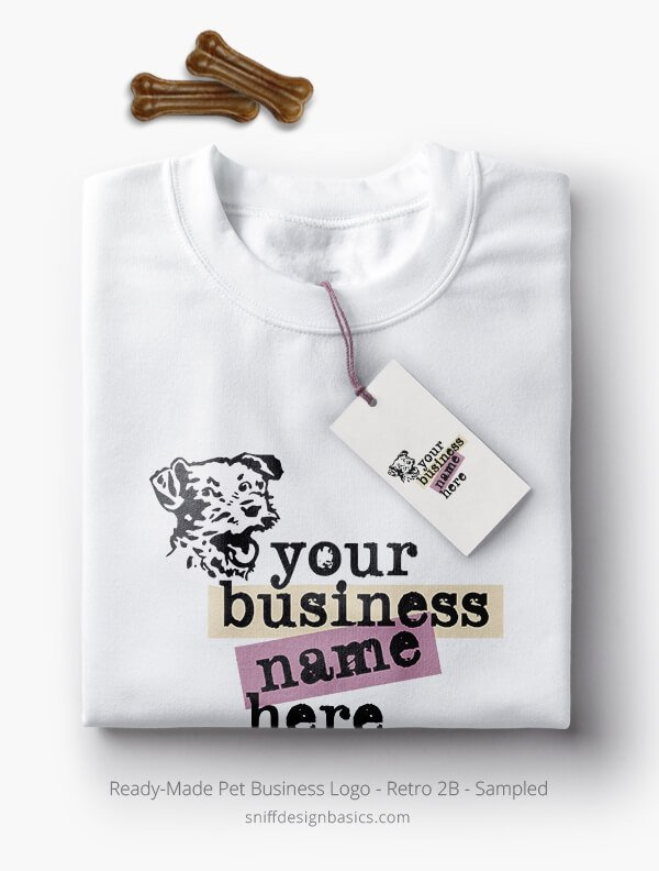 Ready-Made-Pet-Business-Logo-Showcae-TShirt-Retro2B