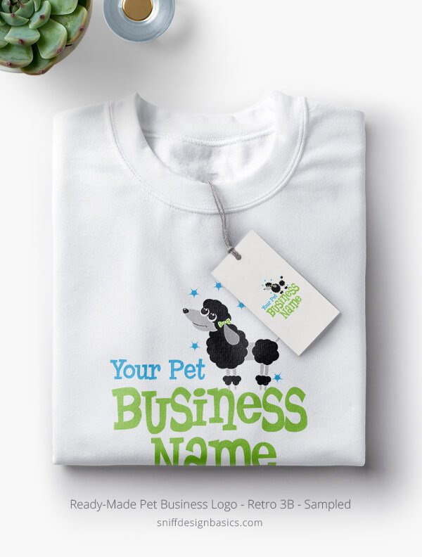 Ready-Made-Pet-Business-Logo-Showcae-TShirt-Retro3B