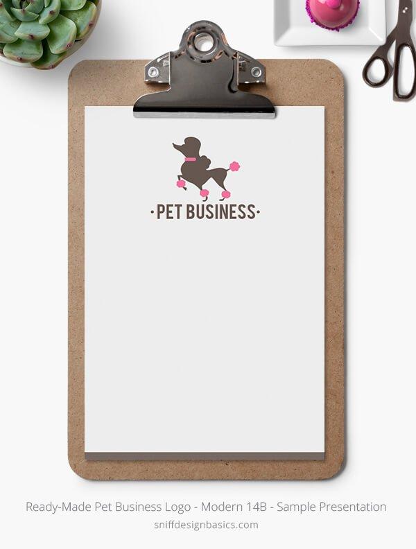 Ready-Made-Pet-Business-Logo-Showcase-Stationery-Letterhead-Modern-14B