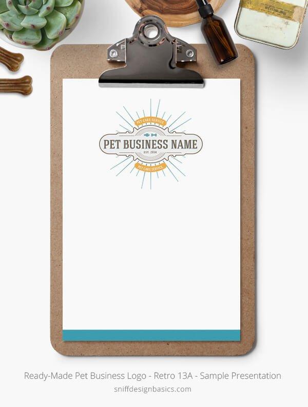 Ready-Made-Pet-Business-Logo-Showcase-StationerySet-Retro13A