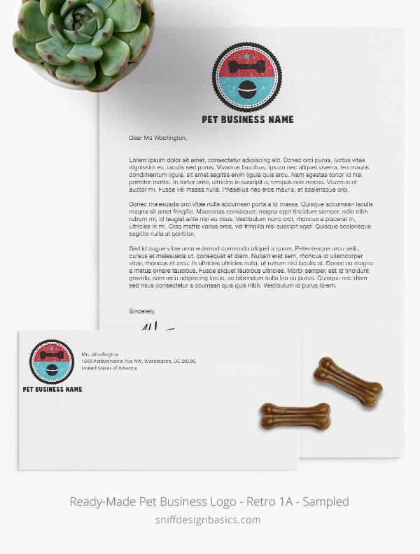Ready-Made-Pet-Business-Logo-Showcase-StationerySet-Retro1A