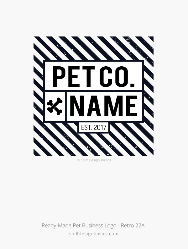 Ready-Made-Pet-Business-Logo-Retro-Design-22A