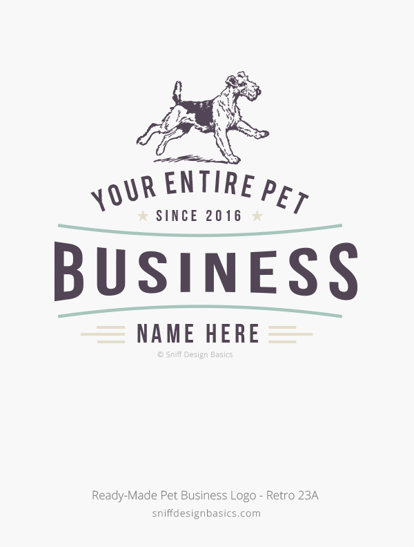 Ready-Made-Pet-Business-Logo-Retro-Design-23A