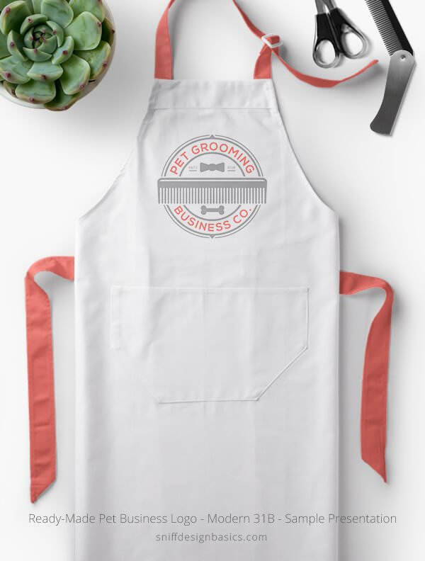 Ready-Made-Pet-Business-Logo-Showcae-Grooming-Apron-Modern-31B