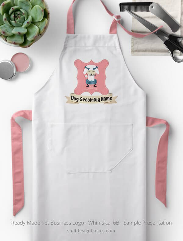 Ready-Made-Pet-Business-Logo-Showcae-Grooming-Apron-Whimsical-6B