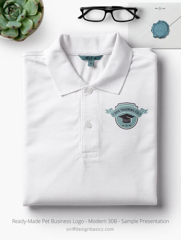 Ready-Made-Pet-Business-Logo-Showcae-Polo-Shirt-Modern-30B