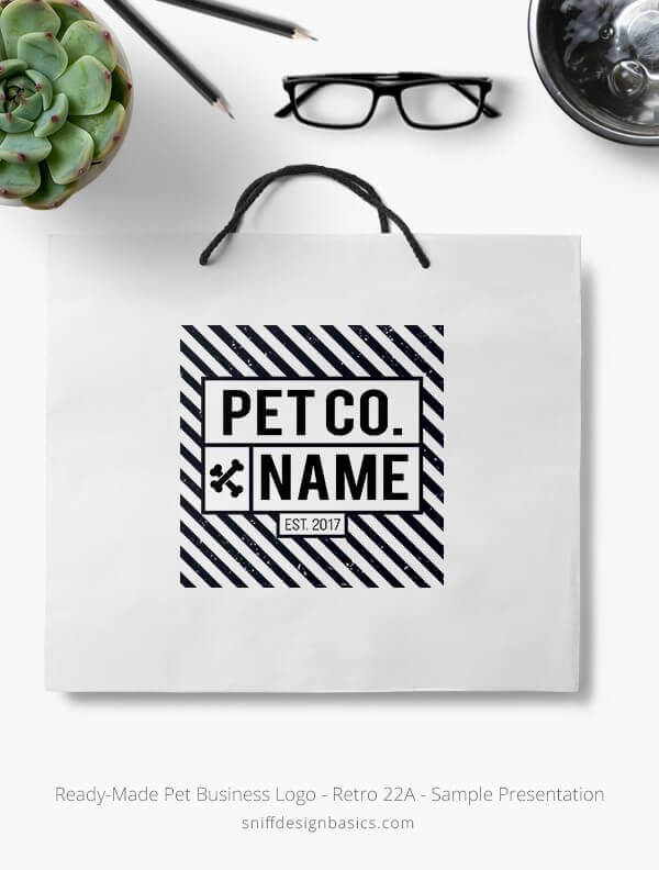 Ready-Made-Pet-Business-Logo-Showcae-Retail-Bag-Retro-22A