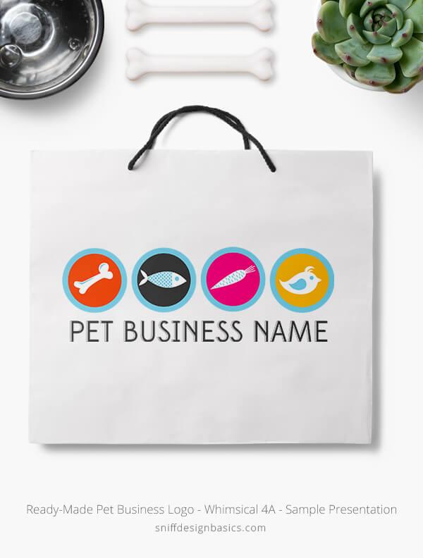 Ready-Made-Pet-Business-Logo-Showcae-Retail-Bag-Whimsical-4A