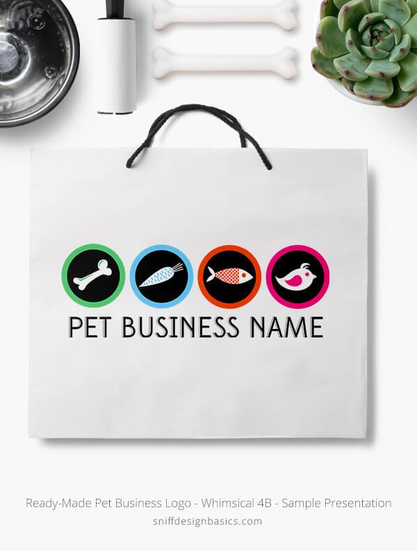 Ready-Made-Pet-Business-Logo-Showcae-Retail-Bag-Whimsical-4B