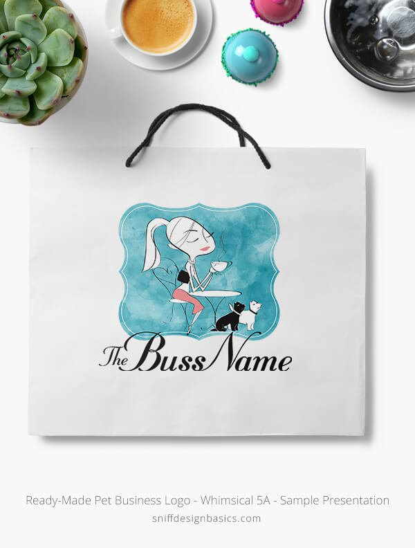 Ready-Made-Pet-Business-Logo-Showcae-Retail-Bag-Whimsical-5A