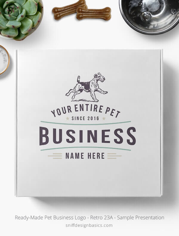Ready-Made-Pet-Business-Logo-Showcae-Retail-Box-Retro-23A