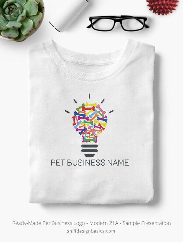Ready-Made-Pet-Business-Logo-Showcae-T-Shirt-Modern-21A