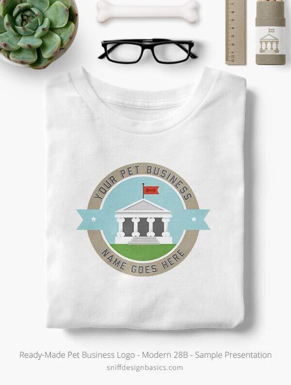 Ready-Made-Pet-Business-Logo-Showcae-T-Shirt-Modern-28B